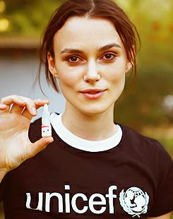 Keira Knightley supports UNICEF UK