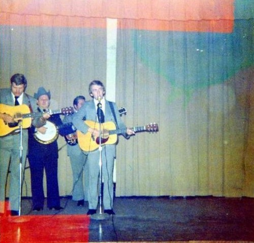 Keith with Ralph Stanley & the Clinch Mountain Boys