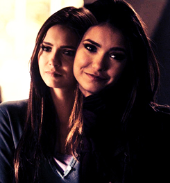 Katherine Pierce and Elena Gilbert wallpaper with a portrait entitled Kelena