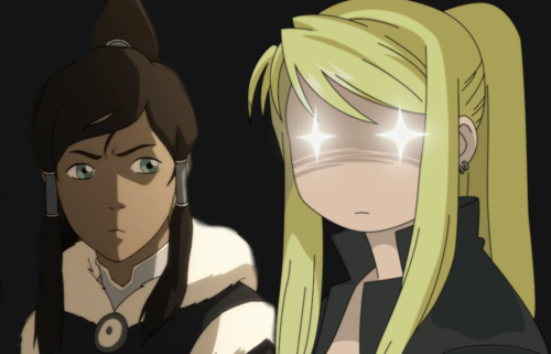 Korra and Winry crossover