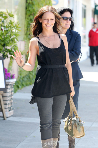 Leaving A Restaurant In Studio City [25 May 2012]