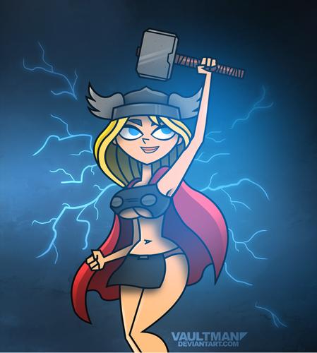 Lindsay as Thor