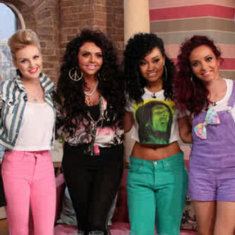 Little Mix hình nền possibly with a đường phố, street and long trousers titled Little Mix on This Morning - 25th May 2012.