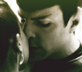 Little nose against her cheek - spock-and-uhura fan art