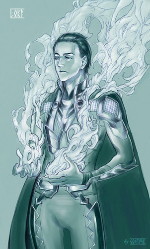 Loki (Thor 2011) fondo de pantalla possibly with anime entitled Loki Fanart