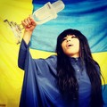 Loreen with her Eurovision trophy