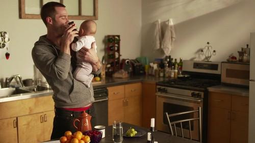 Luke Macfarlane Hintergrund with a kitchen, a kitchenette, and a stove titled Luke Macafrlane in new short movie Erection