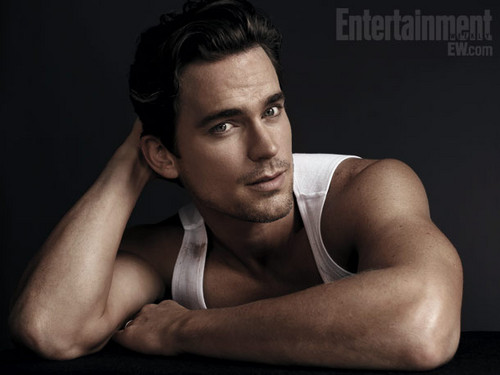 Matt Bomer Hintergrund probably with a portrait called Magic Mike EW Outtakes