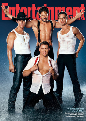 Matt Bomer fond d'écran possibly with a fedora and a gros morceau, hunk called Magic Mike EW Outtakes