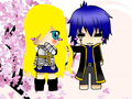 Me and Jellal Chibi