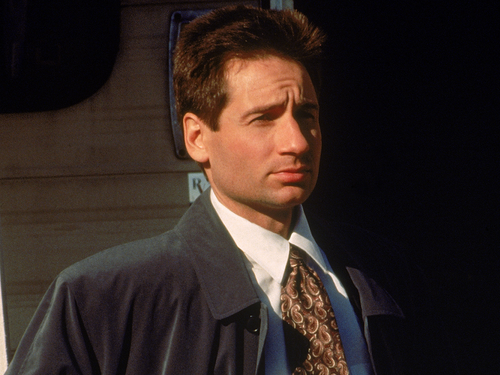 The X-Files wallpaper containing a business suit entitled Mulder