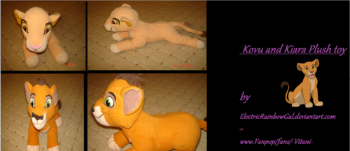 My Kovu and Kiara plush!