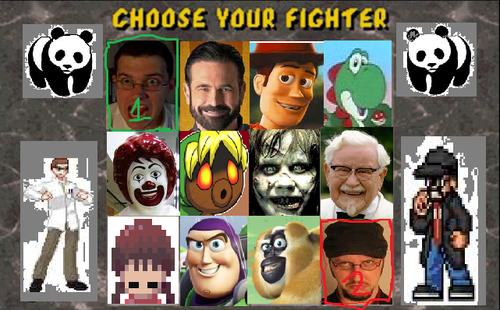 My custom Mortal Kombat select screen