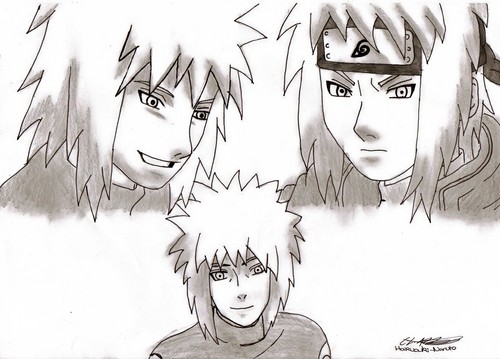 My drawing of Minato ^_^