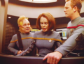 Neelix, B'Elanna and Paris