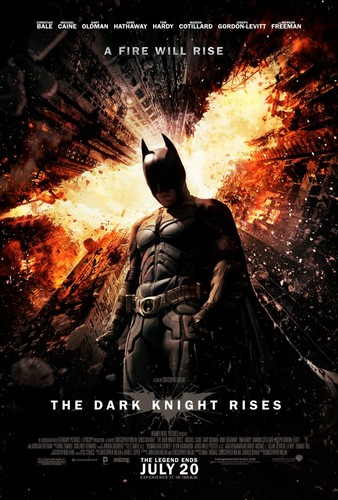 The Dark Knight Rises wallpaper containing anime, a fire, and a fire called New Dark Knight Rises Poster