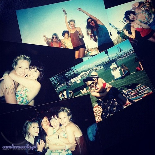 Candice Accola 壁纸 probably with 日本动漫 titled New 照片 of Candice at Coachella 音乐 Festival - April 2012.