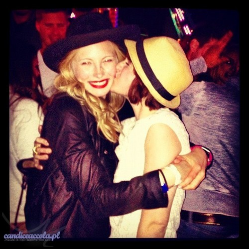 Candice Accola Обои with a fedora and a boater entitled New фото of Candice at Coachella Музыка Festival - April 2012.