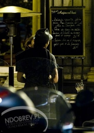 Ian Somerhalder and Nina Dobrev wallpaper probably with a diner and a sign called Nian in Paris, May 2012