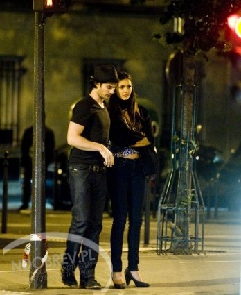 Ian Somerhalder and Nina Dobrev wallpaper possibly containing a concert called Nian in Paris, May 2012