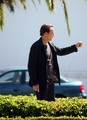 Nicolas Cage - films a scene for his new movie 'Medallion' - nicolas-cage photo