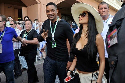 Nicole Scherzinger And Will Smith At Monaco Grand Prix Practise [26 May 2012]