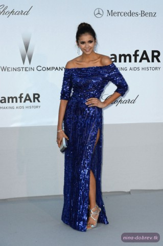Nina Dobrev at 2012 amfAR's Cinema Against AIDS / Cannes