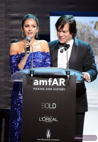Nina Dobrev at 2012 amfAR's Cinema Against AIDS