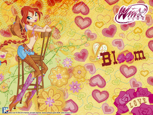 Official fond d'écran 2012 Bloom Winx cowgirl