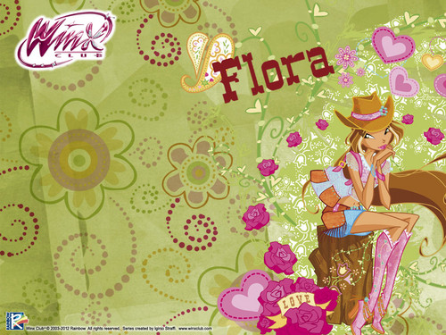 Official 壁紙 2012 Flora Winx cowgirl