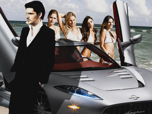 Colin Morgan wallpaper with a business suit titled On the beach