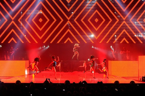 Beyonce wallpaper containing a concert and a theater entitled Performs At Ovation Hall At Revel Resort & Casino In Atlantic City [25 May 2012]