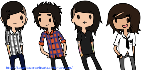 Pierce The Veil- Cartoon :) - pierce-the-veil Photo