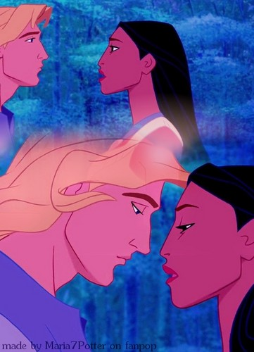Pocahontas &amp; John Collage -- - disney-princess Fan Art