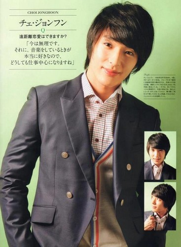 FT ISLAND (에프티 아일랜드) wallpaper containing a business suit and a suit entitled Premium JUNON Magazine
