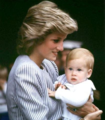 Princess Diana and Baby Prince Harry
