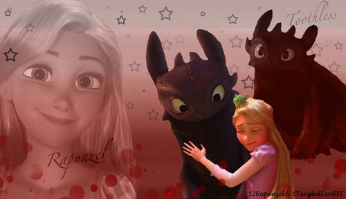 Rapunzel and Toothless Friendship - disney-crossover Photo