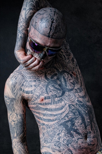 Rick Genest photoshoot par Bartek Sejwa December 2011