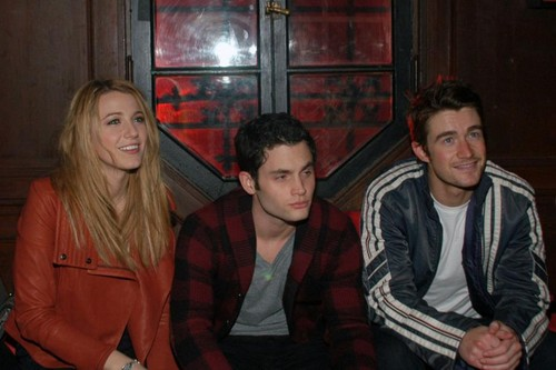 Robert Buckley, Blake Lively and Penn Badgley