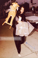 Robin with a stuffed giraffe - robin-tunney photo