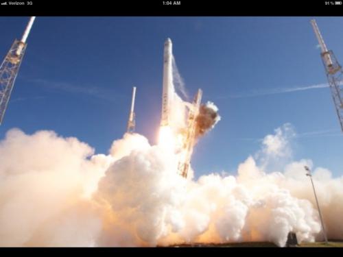 Space karatasi la kupamba ukuta titled Rockets