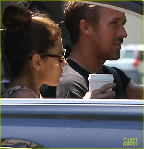 Ryan anak angsa, gosling & Eva Mendes: starbucks Couple