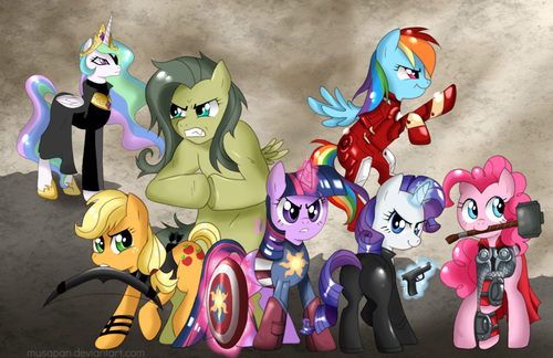 SO. MUCH. PONY! - my-little-pony-friendship-is-magic Fan Art
