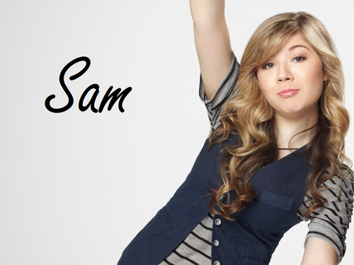 iCarly wallpaper containing a portrait called Sam