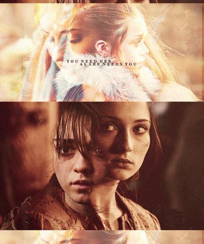 Sansa ( and Arya) Stark