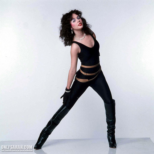 Sarah Brightman karatasi la kupamba ukuta possibly with a legging, tights, and a hip boot entitled Sarah Brightman