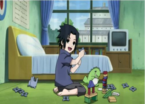 Sasuke and his toys