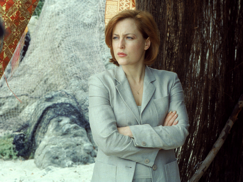 The X-Files wallpaper with a well dressed person titled Scully