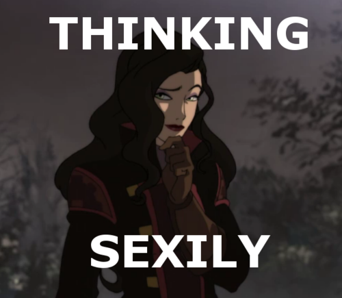 Avatar: The Legend of Korra wallpaper containing anime called Sexy thinking