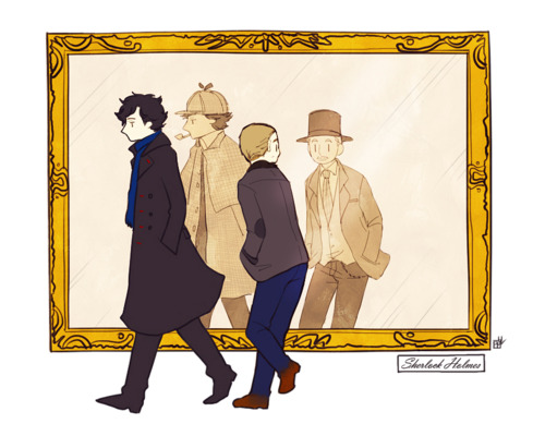 Sherlock in der BBC Hintergrund probably containing a well dressed person and a business suit entitled Sherlock